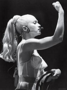 Madonna in Concert During Her Blonde Ambition Tour by Kevin Winter