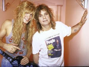Rock Musicians Zack and Ozzy Osbourne by Kevin Winter