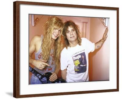 Rock Musicians Zack and Ozzy Osbourne