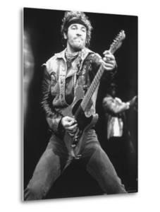 Rock Star Bruce Springsteen Playing Guitar in Concert by Kevin Winter