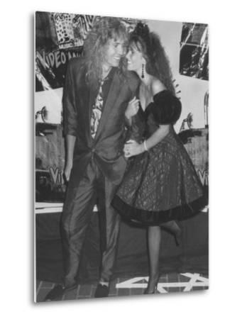 Rock Star David Coverdale and Wife, Actress Tawny Kitaen at the Mtv Video Awards by Kevin Winter