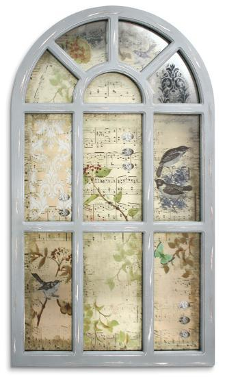 Kew Gardens Antiqued Wall Mirror--Wall Mirror