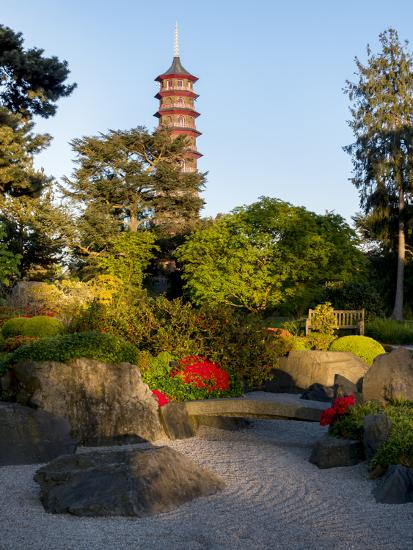 Kew Gardens Pagoda-Charles Bowman-Photographic Print