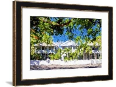 Kew West Cottages - In the Style of Oil Painting-Philippe Hugonnard-Framed Giclee Print