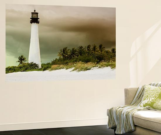Key Biscayne Light House during a Tropical Storm - Miami - Florida-Philippe Hugonnard-Wall Mural