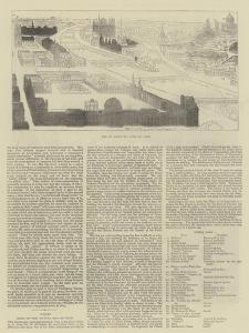 Key to Bird's Eye View of Paris