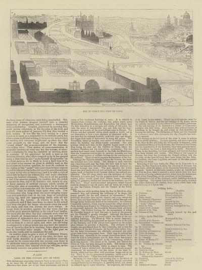 Key to Bird's Eye View of Paris--Giclee Print