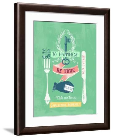Key to Happiness-Bella Dos Santos-Framed Art Print