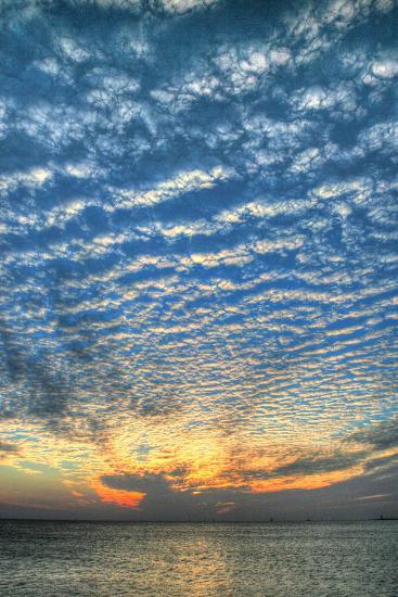 Key West Blue Sunset Vertical-Robert Goldwitz-Photographic Print