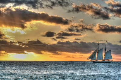 Key West Clipper Sunset I-Robert Goldwitz-Photographic Print