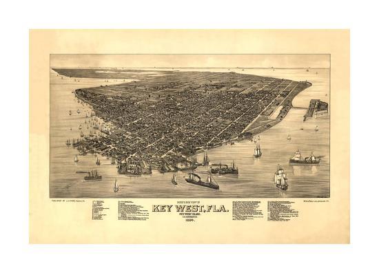 Key West, FL - 1884-Bill Cannon-Giclee Print