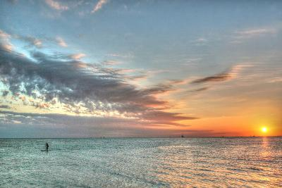 Key West Paddleboard Sunset-Robert Goldwitz-Photographic Print