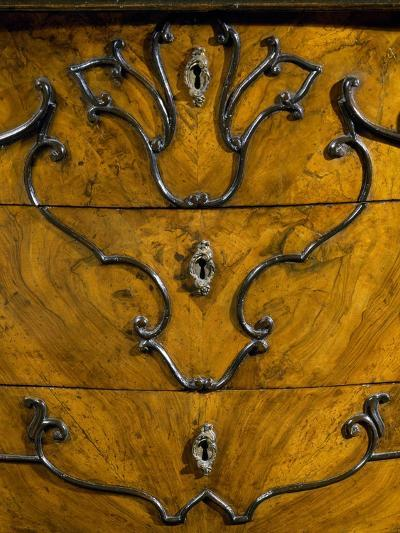Keyholes and Decoration of Drawers from Rococo Style Lombard Trumeau Cabinet--Giclee Print