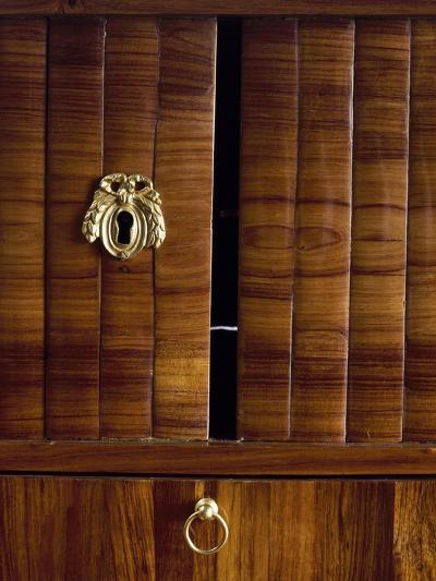 Keyholes and Two Tambour Sliding Doors, Detail from Louis XVI Style Bonheur Du Jour--Giclee Print