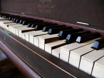 Keys on an Old Piano Show their Age as their Action Has Deteriorated-White & Petteway-Photographic Print