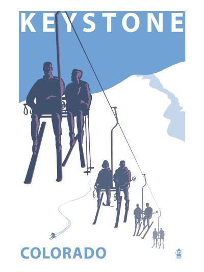 Keystone, Colorado Ski Lift-Lantern Press-Art Print