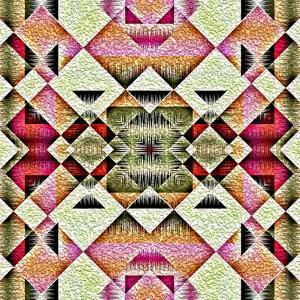 Native American Traditional Decorative Tribal Pattern Design Background by kgtoh