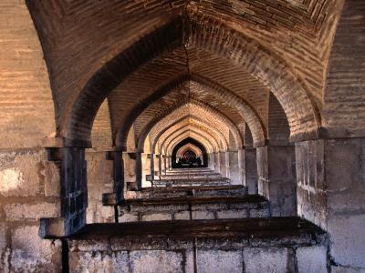 Khaju Bridge, Esfahan, Iran-John Borthwick-Photographic Print