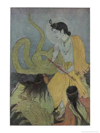 Krishna Defeats the 5 Headed Serpent Kaliya