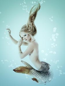 Mermaid Beautiful Magic Underwater Mythology Being Original Photo Compilation by khorzhevska