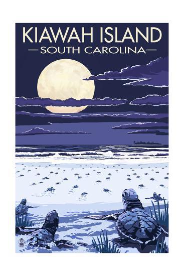 Kiawah Island, South Carolina - Sea Turtles Hatching-Lantern Press-Art Print
