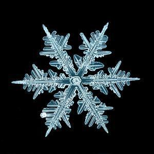 Snowflake Isolated Natural Crystal by Kichigin