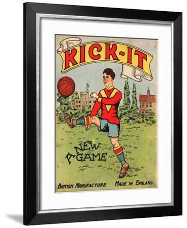 Kick-It' Table Football Game, Early 20th Century--Framed Giclee Print