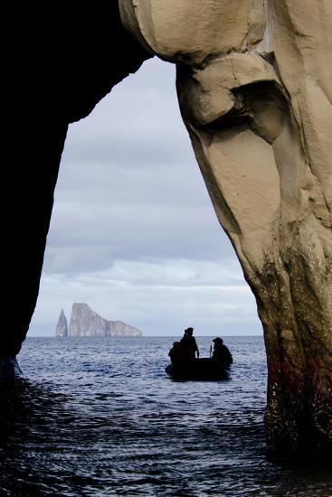 Kicker Rock Seen Through a Cave from San Cristobal, Galapagos, Ecuador-Cindy Miller Hopkins-Photographic Print