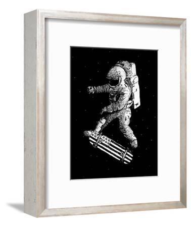 Kickflip in Space-Robert Farkas-Framed Art Print