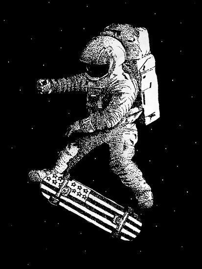 Kickflip in Space-Robert Farkas-Premium Giclee Print