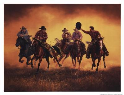 Kickin Up Dust-Jack Sorenson-Art Print
