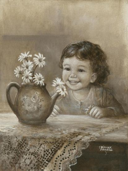 Kid with Daises-Dianne Dengel-Giclee Print