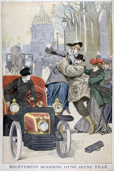 Kidnapping of a Young Woman in Paris, 1902--Giclee Print