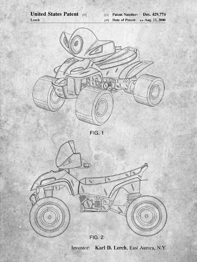 Kids 4-Wheeler-Cole Borders-Art Print