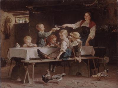 Kids at Lunch, 1857-Marc Louis Benjamin Vautier-Giclee Print