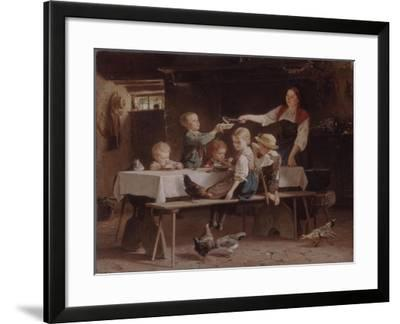 Kids at Lunch, 1857-Marc Louis Benjamin Vautier-Framed Giclee Print