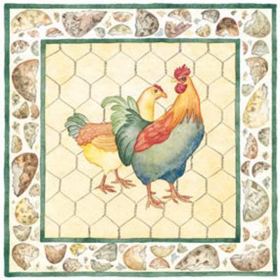 Kids Chickens--Art Print