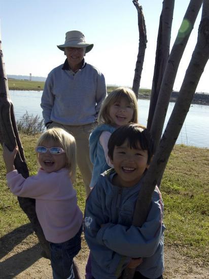 Kids Climb a Tree as their Grandpa Looks On, Washington, D.C.-Stacy Gold-Photographic Print