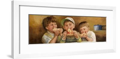 Kids Eating Pizza-Dianne Dengel-Framed Giclee Print