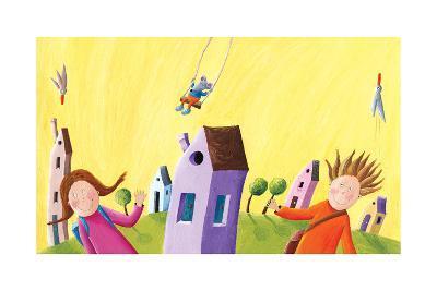 Kids Going to School-andreapetrlik-Art Print