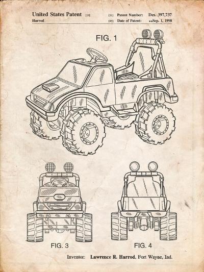 Kids Truck-Cole Borders-Art Print