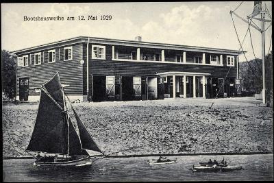 Kiel, Bootshaus Und Jugendherberge, Segelboot, Kanus--Giclee Print