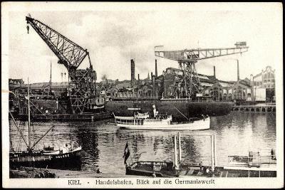 Kiel, Handelshafen, Blick Auf Die Germaniawerft--Giclee Print