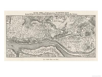 Kiev: The Oldest Known Map--Giclee Print