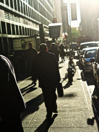 A Backlit View of Pedestrians on a New York Street by Kike Calvo
