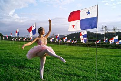 A Ballerina Dances In The City Of Knowledge Near The Panama Canal by Kike Calvo