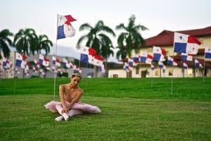 A Ballerina Stretches In The City Of Knowledge Near The Panama Canal by Kike Calvo