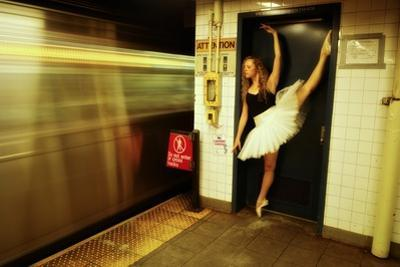 A Classic Ballerina Dances in the New York Subway by Kike Calvo