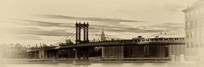 A Manipulated Image of the Manhattan Bridge and East River by Kike Calvo