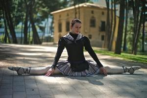 A Spanish Contortionist And Dancer In A Aragonese Jotera Style Tutu by Kike Calvo